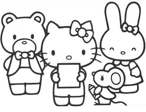 7 Dibujos De Hello Kitty Para Colorear