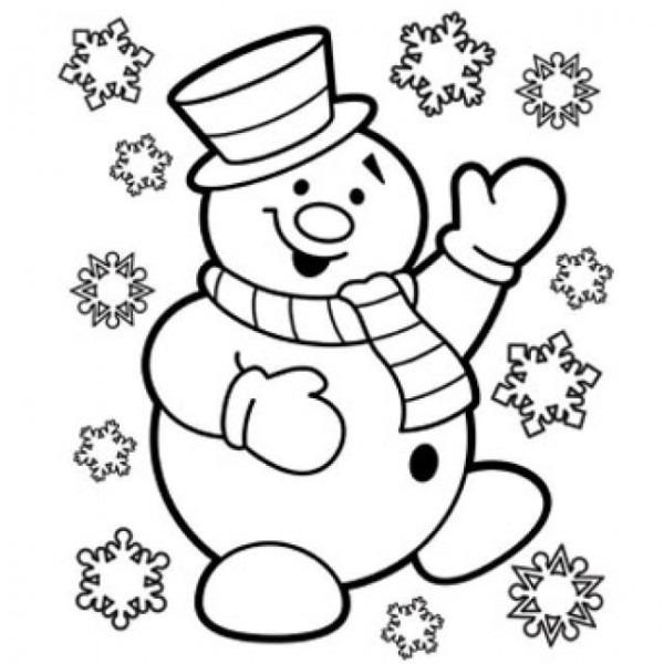 Dibujos De Navidad, Fáciles Para Colorear, Imprimir Y A Color