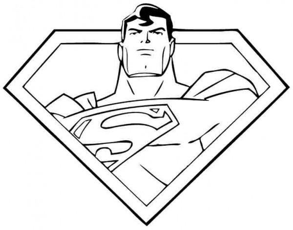 Dibujos De Superman Para Colorear, Pintar E Imprimir Gratis