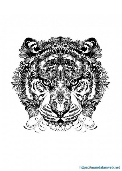 ▷ 33 Mandalas Y Dibujos De Tigres Para Colorear 🥇
