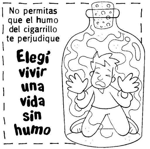 Imágenes Del Día Mundial Sin Tabaco Para Colorear, Pintar E