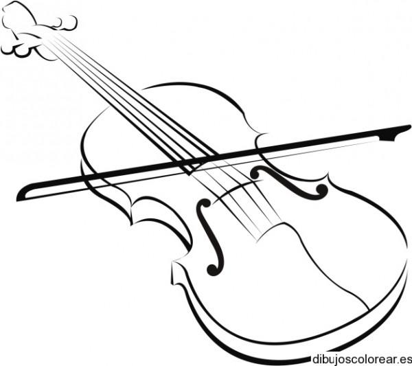 Dibujo De Un Gran Violín