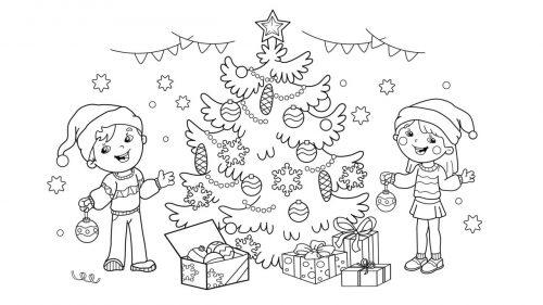 Dibujos De Arboles De Navidad Para Colorear