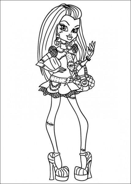 Dibujos De Monster High Para Colorear