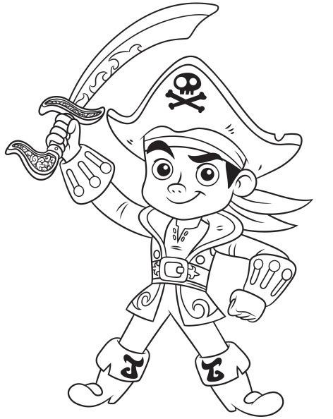 Jack El Pirata Para Colorear
