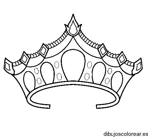 Dibujo De Una Corona De Princesa