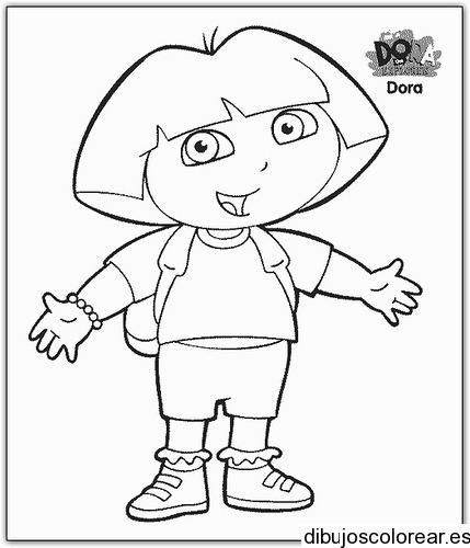 Dibujo De Dora La Exploradora Camino Al Colegio
