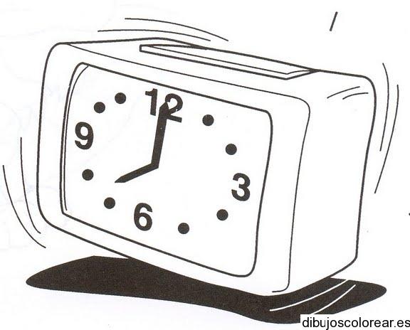 Dibujo De Un Reloj Despertador Vibrando