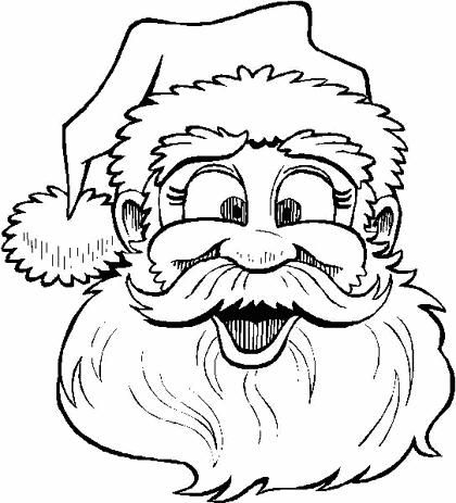Dibujos Para Colorear Navidad  Santa Claus