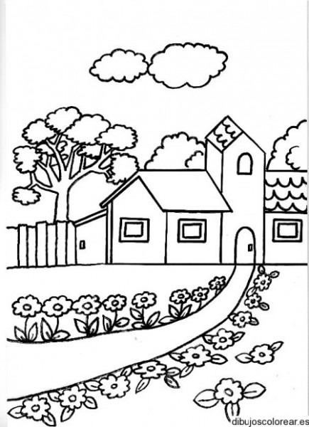 Dibujos Para Colorear » Dibujos De Casas