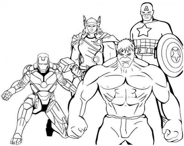 Avengers  14 (superhéroes) – Páginas Para Colorear