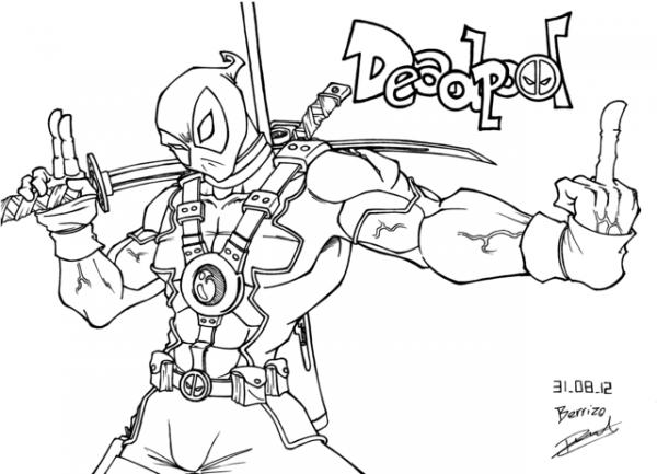 Deadpool  37 (superhéroes) – Páginas Para Colorear