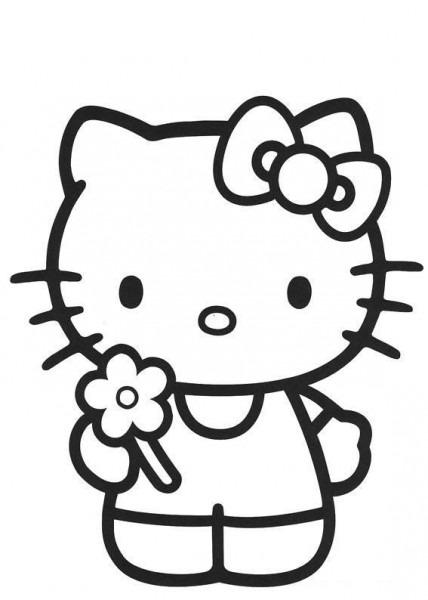 Hello Kitty  27 (dibujos Animados) – Páginas Para Colorear