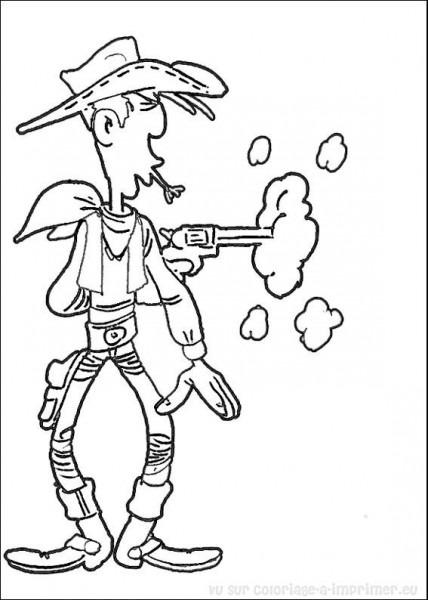 Lucky Luke  2 (dibujos Animados) – Páginas Para Colorear