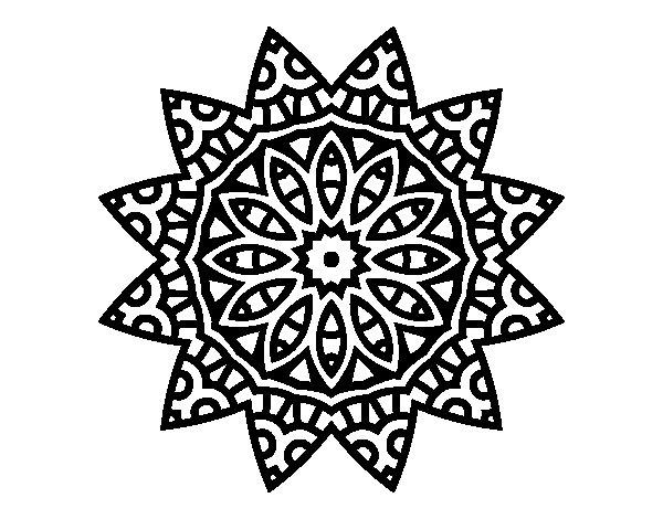 Mandalas Estrella  19 (mandalas) – Páginas Para Colorear