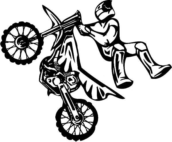 Motocross  25 (transporte) – Páginas Para Colorear