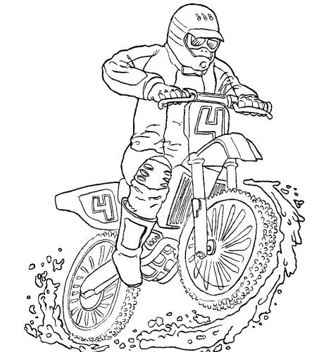 Motocross  9 (transporte) – Páginas Para Colorear