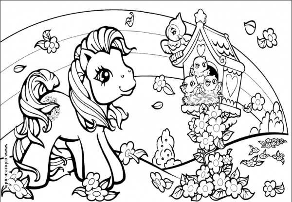 My Little Pony  80 (dibujos Animados) – Páginas Para Colorear