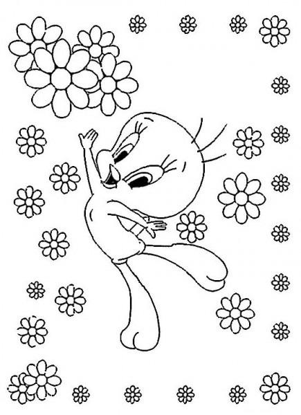 Tweety And Sylvester  110 (dibujos Animados) – Páginas Para Colorear