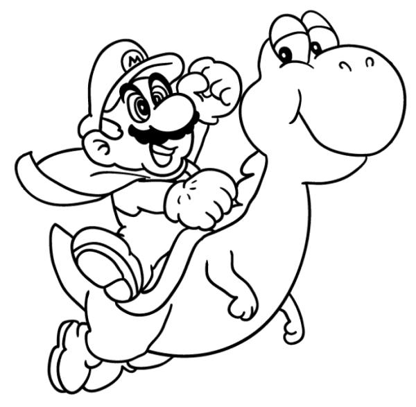 Yoshi  37 (videojuegos) – Páginas Para Colorear