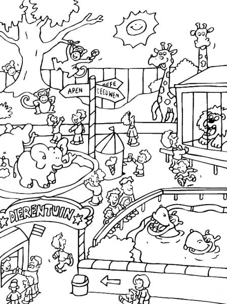 Zoo  1 (animales) – Páginas Para Colorear