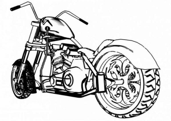 Colorear Autos Y Motos (11)