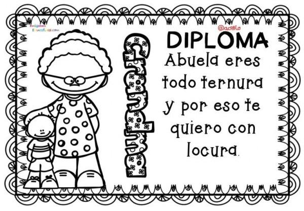 Diplomas Para Colorear Del Día De Las Madres  10 De Mayo (4