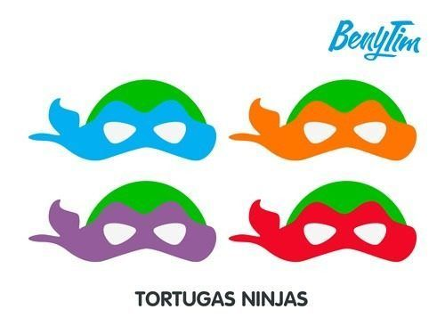 Mascaras De Tortugas Ninja Para Colorear