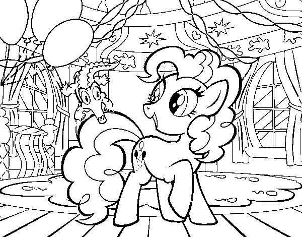 Dibujo De El Cumpleaños De Pinkie Pie Para Colorear