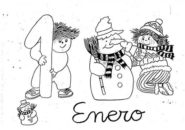 Dibujos Para Pintar Del Mes De Enero