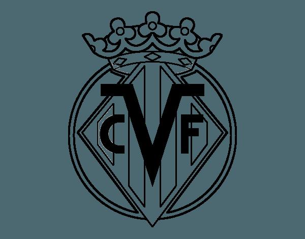 Dibujo De Escudo Del Villarreal C F  Para Colorear