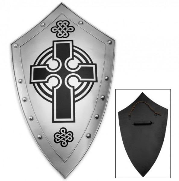 Escudo Medieval De Caballero Cruzado Cruzadas Templario