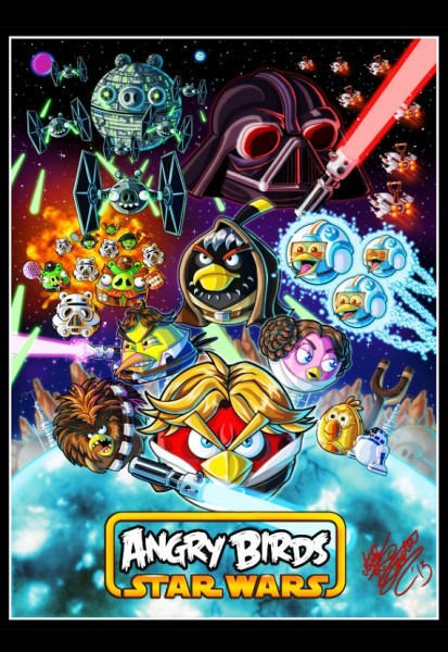 Angry Birds Star Wars Art Print