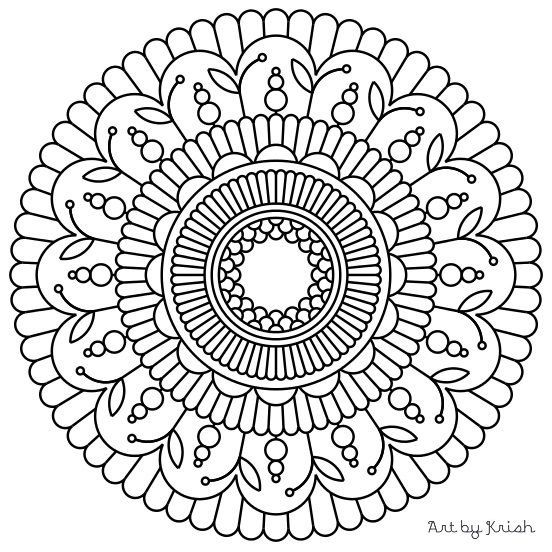 119 Printable Intricate Mandala Coloring Pages By Krishthebrand