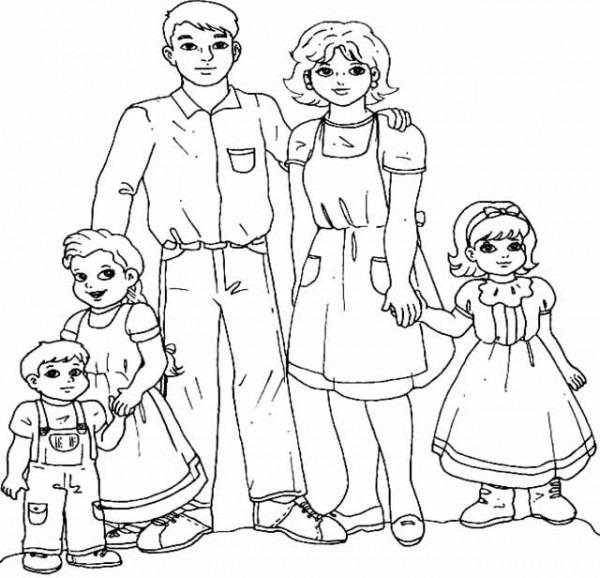Cuentosdedoncoco Com  La Familia Para Colorear