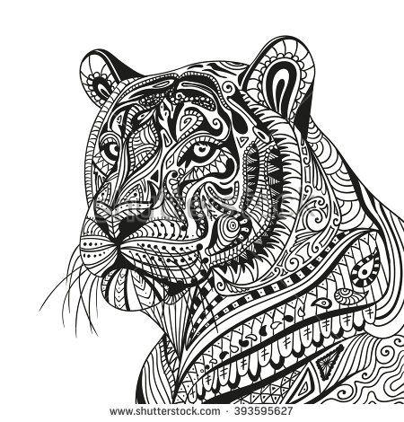 Un Tigre De Mandalas