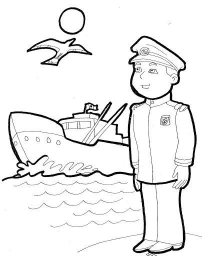 Capitanes Para Colorear