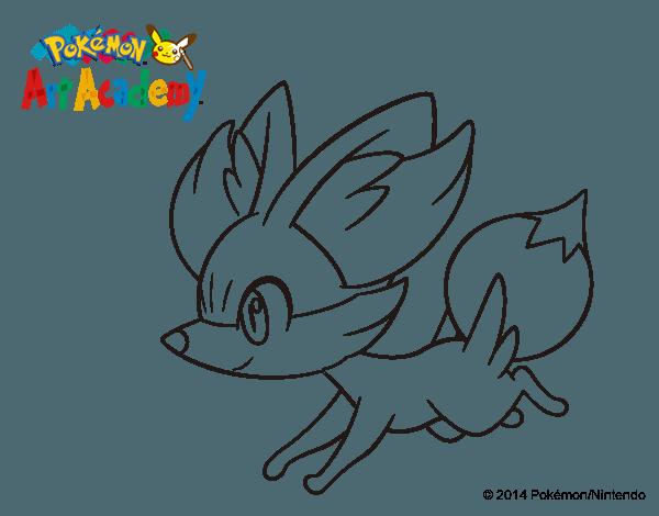Dibujo De Fennekin Corriendo Para Colorear