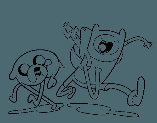 Dibujo De Finn Y Jake Para Colorear
