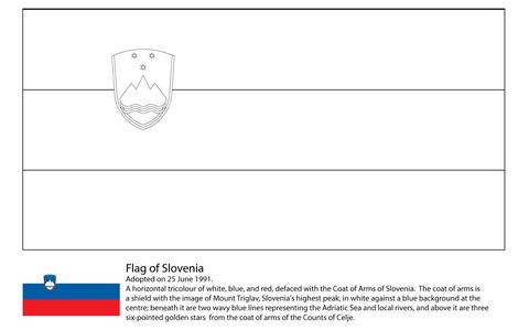 Dibujo De Bandera De Eslovenia Para Colorear