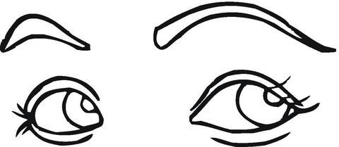 Dibujo De Ojos Seductores Para Colorear