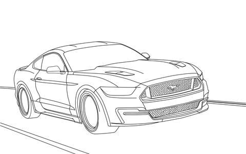Dibujo De Ford Mustang 2015 Para Colorear