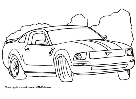 Dibujo De Ford Mustang Para Colorear