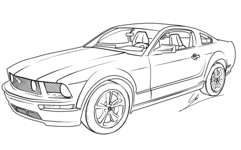 Dibujo De Ford Mustang Gt Para Colorear