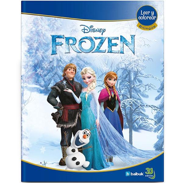 Frozen Libro Bilingüe, Para Pintar Y Con Realidad Aumentada