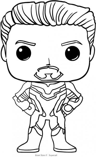 Dibujo De Tony Stark De Funko Avengers Endgame Para Colorear
