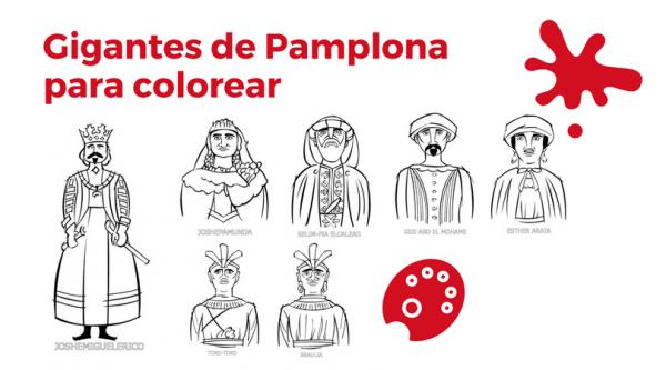 Gigantes De Pamplona Para Colorear Y Pintar