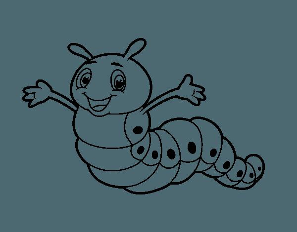 Dibujo De Gusano Infantil Para Colorear