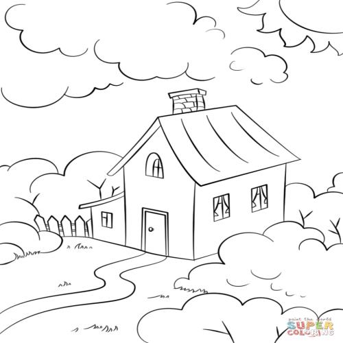 Dibujos De Casas Para Colorear