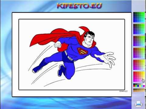 Juego  Colorear Superhéroe Superman Gratis Online